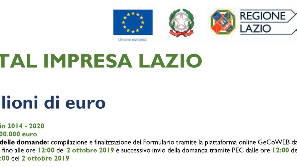 Digital Impresa Lazio: Valido fino al 1 Ottobre 2019 Bando digital impresa lazio 1200x675
