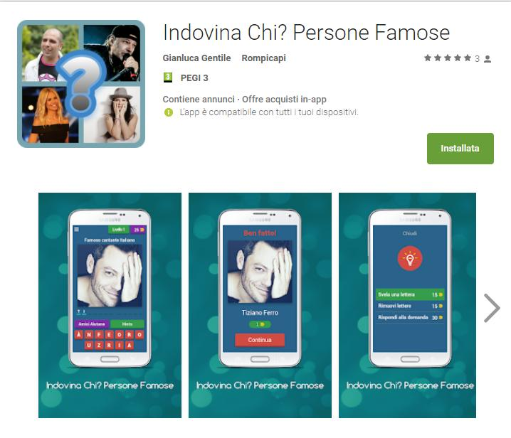 Indovina Chi? Persone Famose Indovina Chi  Persone Famose App Android su Google Play Gianluca Gentile