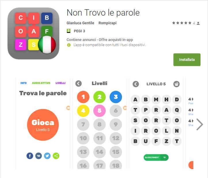 Non trovo le Parole Non Trovo le parole App Android su Google Play Gianluca Gentile