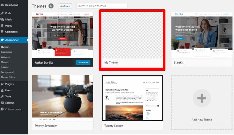 come cambiare un tema su WordPress